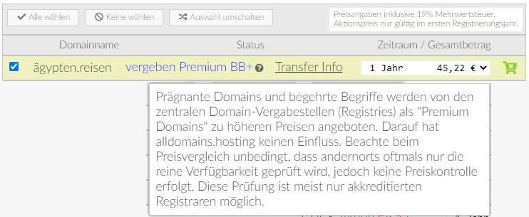 Ägypten.Reisen ist eine BB+ Premium Domain