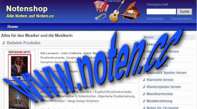 noten.cc musikdomain musik